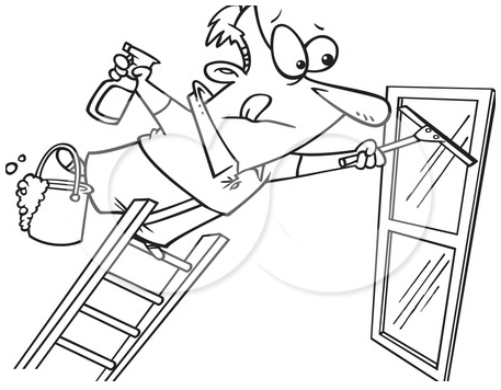 436784-Royalty-Free-RF-Clipart-Illustration-Of-A-Line-Art-Design-Of-A-Window-Cleaner-Leaning-Far-Over-A-Ladder 1